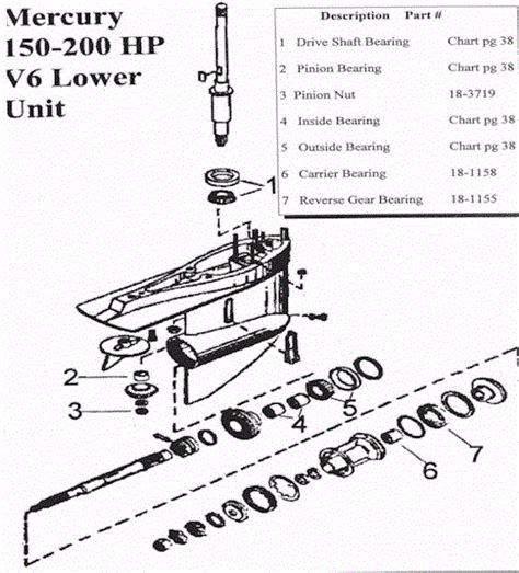 Mercruiser Lower Unit Diagram by Mercury Lower Unit Diagram