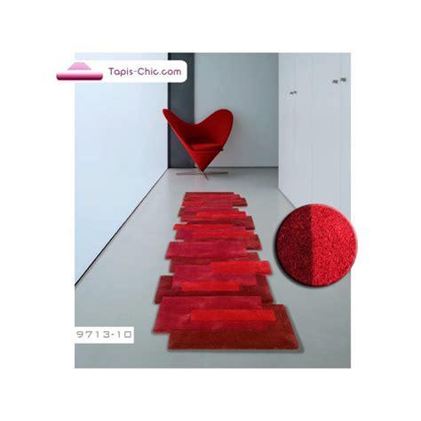tapis design de couloir rouge acheter  tapis angelo rouge