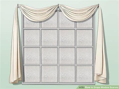 How To Drape Window Scarves - 3 ways to drape window scarves wikihow