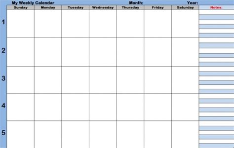 blank schedule template  time slots printable