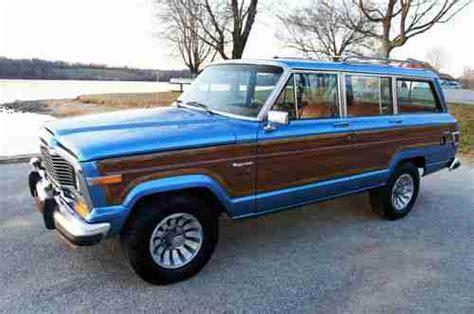 jeep wagoneer blue sell used 1983 jeep grand wagoneer limited marine teak