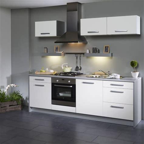 cuisine blanc et grise idee deco cuisine blanc et gris