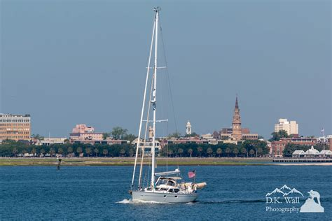 Big Boat In Charleston Harbor charleston harbor by boat d k wall