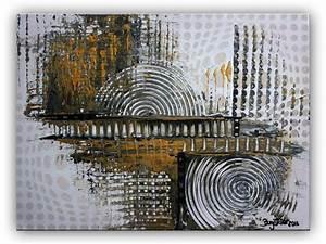 Abstrakte Bilder Leinwand : burgstaller acrylbild leinwandbild gold silber leinwand abstrakte malerei bilder ebay ~ Sanjose-hotels-ca.com Haus und Dekorationen