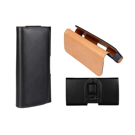 flip phone holster leather flip cover pouch bag wallet card belt clip