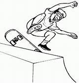 Skateboard Coloring Skateboarding Pages Extreme Sports Skateboards Skateboarder Boy Halfpipe Logos Skating Printable Sport Apparel Sketch Jumping Tricks Easter Hawk sketch template