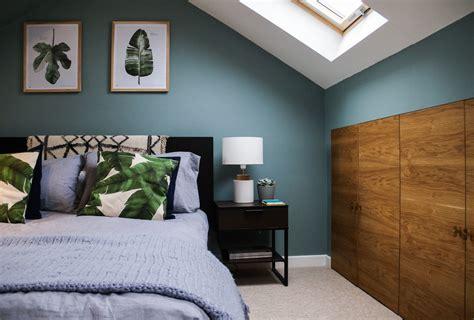 farrow ball oval room blue palm leaves calming loft