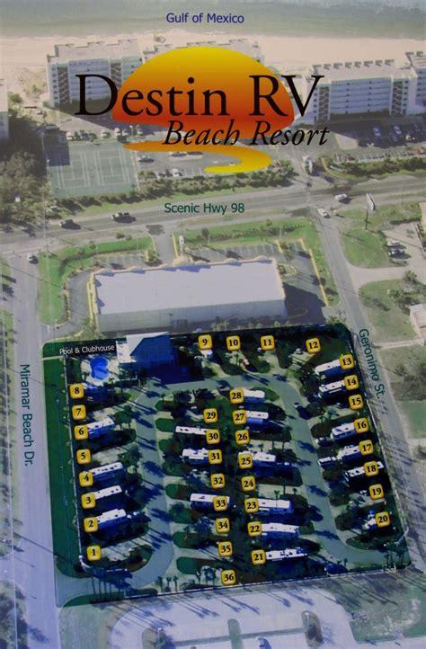 destin rv resort beach map fl miramar site parks park campground campgrounds emerald coast maps rvpoints