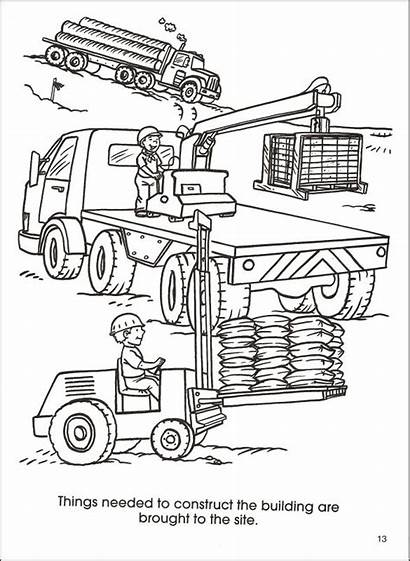 Construction Coloring Site Pages Printable Getcolorings Getdrawings