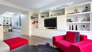 modern living room tv furniture peenmediacom With modern tv wall unit designs for living room