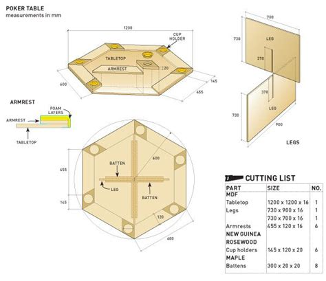poker table plans images  pinterest game