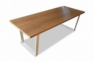 Esstisch Modern Design : esstisch eiche massivholz nach ma esszimmer klassisch modern design kufengestell tischplatte ~ Frokenaadalensverden.com Haus und Dekorationen