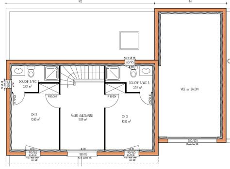 plan maison 3 chambres etage plan maison 3 etages