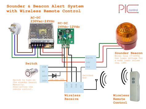 Wireless Alarm Circuit Diagram