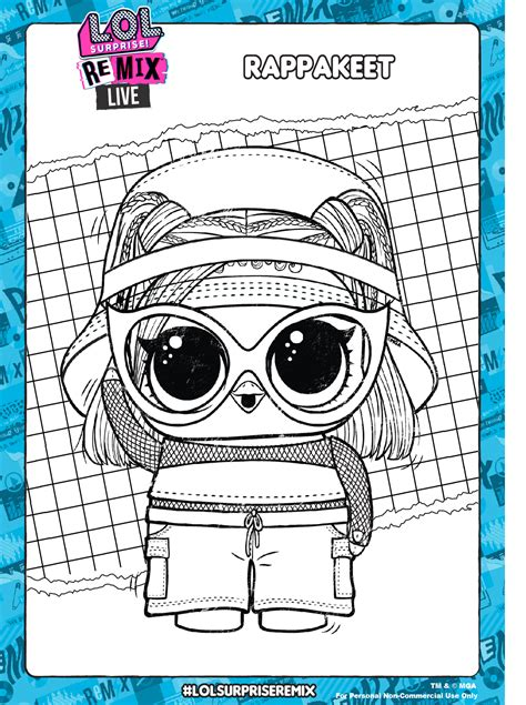 lol surprise remix coloring pages  activity pages youloveitcom