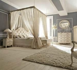 lit baldaquin pour une chambre de deco romantique moderne With chambre a coucher romantique