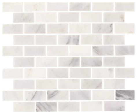 white marble brick tiles aspen marble brick subway tile white 12 quot x12 quot contemporary mosaic tile by tile circle