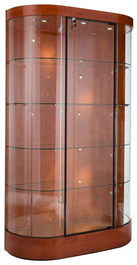 Display Cabinets For Sale - these wood and glass trophy cases for sale are ship
