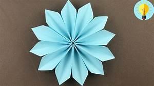 Origami Blumen Falten : blume basteln mit papier blume falten einfach kinder diy ~ Watch28wear.com Haus und Dekorationen