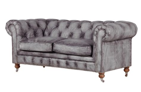 grey leather chesterfield sofa grey leather sofa folat