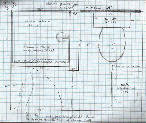 5 acres a bathroom plans on graph paper 4x6