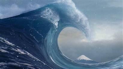 Wave Kanagawa Wallpapers Waves Realistic Desktop Huge
