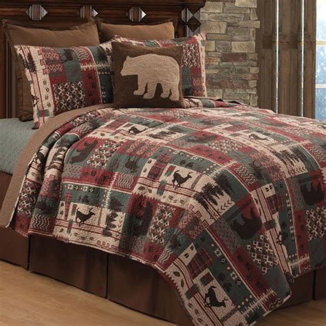 Quilt Sets Sale by Wildlife Mountain Quilt Bed Set