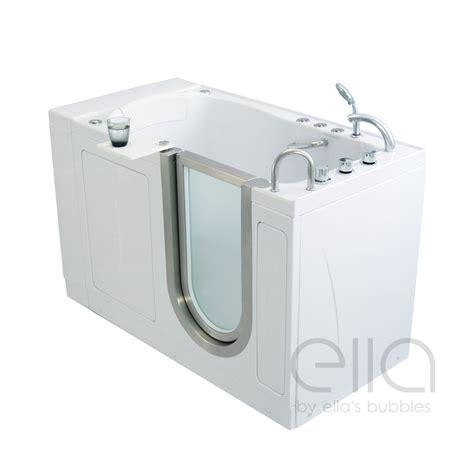 bathtub wall elite acrylic walk in bathtub ella 39 s bubbles
