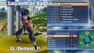 Dragon Ball Xenoverse 2 Gameplay   Op Saiyan Male Strike And Basic Build   Gi  Demon
