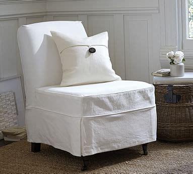 Slipper Chair Slipcover by Maxton Slipcovered Slipper Chair Denim Warm White
