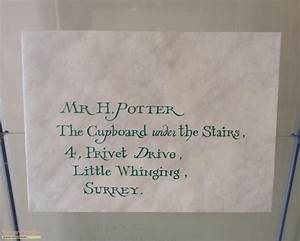 Harry Potter and the Philosopher's Stone Hogwarts Invitation Envelope original movie prop
