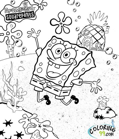 spongebob squarepants coloring pages minister coloring