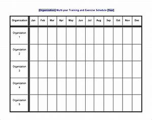 exercise schedule template 10 free sample example With gym calendar template