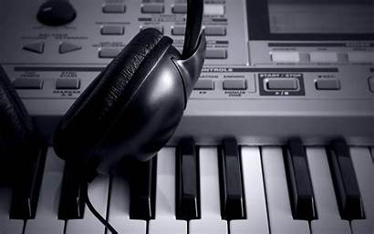 Keyboard Tech Background Piano Synthesizer Normans Headphones