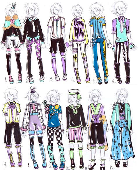 -CLOSED- MALE Pastel goth OUTFITS by Guppie-Adopts.deviantart.com on @deviantART | Pastel Goth ...