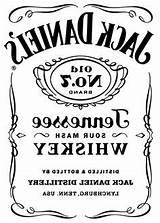 Jack Daniels Daniel Stencil Silhouette Label Drawing Bar sketch template