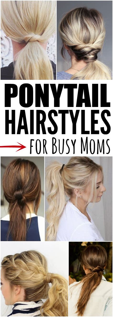 and easy ponytail hairstyles for busy