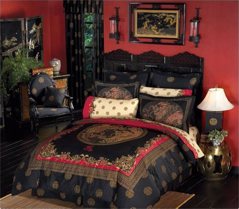 asian decor ming design royal dragon bed in a bag