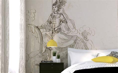 papier peint contemporain chambre des papiers peints panoramiques pour la chambre à coucher