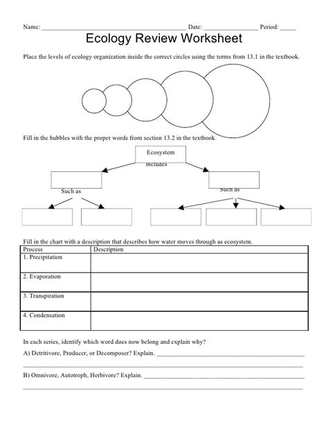 HD wallpapers ecosystems worksheets for kids