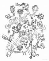 Keys sketch template