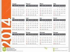 2014 Calendar Stock Image Image 33951891