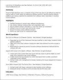 agile coach resume summary professional agile developer templates to showcase your talent myperfectresume