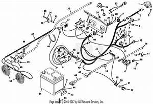 Gravely 50120 14hp  Without Hydraulic Lift Parts Diagram For Electrical System