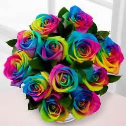 unique flower arrangements unicorn rainbow roses popsugar home