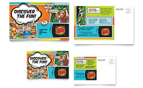 kids club rack card template word publisher
