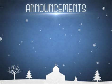 winter snow announcements motion worship worshiphouse