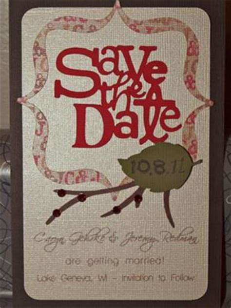 Fall themed Save the Dates