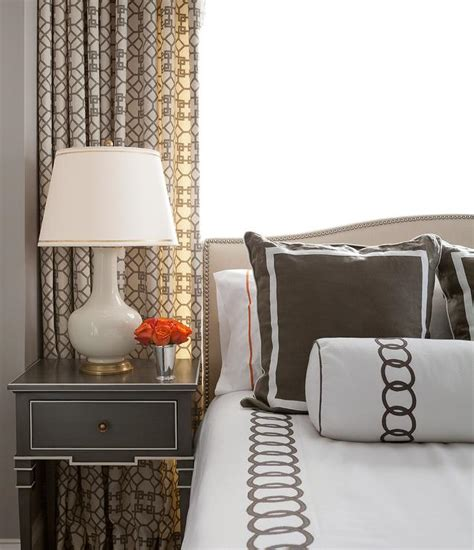 brown  cream bedrooms  black accents transitional