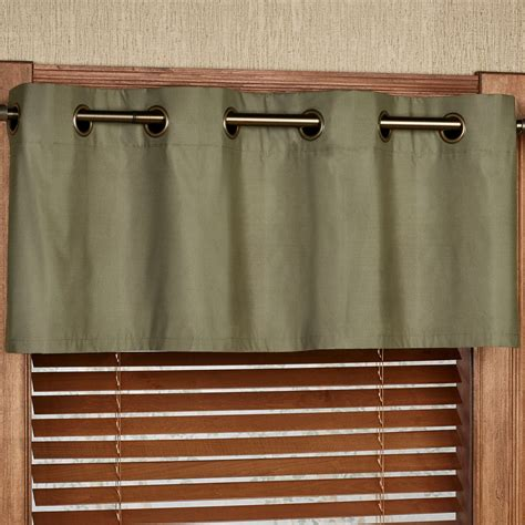 Grommet Valance by Paramount Solid Color Grommet Window Valance